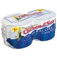 Chicken of the Sea Tuna Solid White in Water 4PK of 5oz Cans