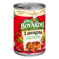 Chef Boyardee Lasagna with Tomato & Meat Sauce 15oz Can