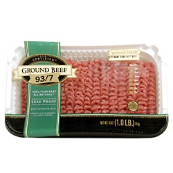 Ground Beef 93% Lean 1LB PKG