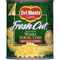 Del Monte Fresh Cut Sweet Corn Whole Kernel No Salt Added 8.75oz