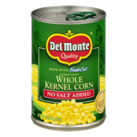 Del Monte Fresh Cut Sweet Corn Whole Kernel No Salt Added 15.2oz product image
