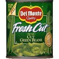 Del Monte Fresh Cut Green Beans Cut 8oz Can