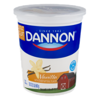 Dannon Natural Flavors Yogurt Low Fat Vanilla 32oz Tub