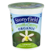 Stonyfield Farm Low Fat French Vanilla Yogurt 32oz Tub product image