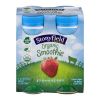 Stonyfield Farm Smoothie Strawberry 6oz 4Pack