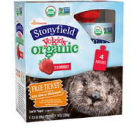 Stonyfield YoKids Organic Strawberry Yogurt 4PK 3.5oz Pouches product image