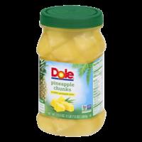 Dole Pineapple Chunks in 100% Juice 23.5oz Jar product image