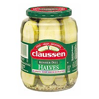 Claussen Pickles Dill Kosher Halves 32oz Jar