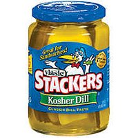 Vlasic Sandwich Stackers Pickles Kosher Dill 16oz Jar