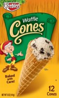 Keebler Ice Cream Cones Waffle 12CT 5oz Box