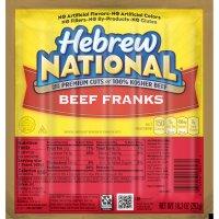 Hebrew National Franks Beef 6CT 10.3oz PKG product image