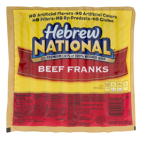 Hebrew National Franks Beef 7CT 12oz PKG product image