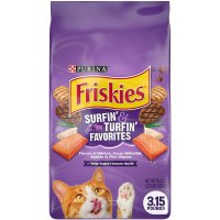 Friskies Favorites Surfin & Turfin Dry Cat Food 3.15LB Bag