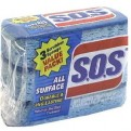 SOS Scrubber Sponge All Surface 3CT PKG