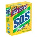 SOS Steel Wool Soap Pads Lemon 10CT Box