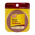 Oscar Mayer Salami Beef Cotto Sliced 8oz PKG