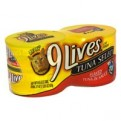 9 Lives Wet Cat Food Select Flaked Tuna 4PK of 5.5oz Cans 22oz PKG