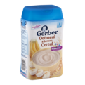 Gerber Cereals Whole Grain Oatmeal with Bananas 8oz Box