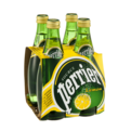 Perrier Sparkling Mineral Water Lemon 4PK of 11.15oz. Bottles