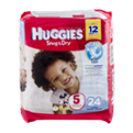 Huggies Snug and Dry Diapers Size 5 Jumbo Pack  25CT PKG