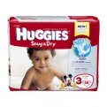 Huggies Snug & Dry Diapers Size 3 (16-28LB) Jumbo Pack 34CT PKG
