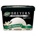Breyers All Natural Ice Cream Natural Vanilla 1.5QT