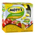 Mott's Snack & Go Natural Applesauce 3.2 oz Pouches 4Count PKG