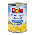 Dole Pineapple Chunks in Heavy Syrup 20oz Can