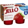 Jell-O Gelatin Snacks Sugar Free Strawberry 4CT