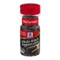 McCormick Black Pepper, Whole Peppercorns 3.5oz. BTL
