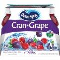 Ocean Spray Cran-Grape Juice Drink 6PK of 10oz EA