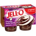 Jell-O Pudding Chocolate & Vanilla Swirls 4oz EA 4CT