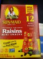 Sun Maid Raisins 12CT Mini Boxes 6oz PKG