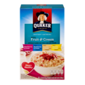 Quaker Instant Oatmeal Fruit & Cream Variety 8PK 9.8oz Box
