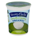 Stonyfield Farm Organic Yogurt Low Fat Plain 32oz Tub