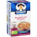Quaker Instant Oatmeal Strawberries & Cream 10PK 12.3oz Box