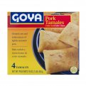 Goya Tamales Frozen Microwavable Ground Corn & Pork 4CT 16oz Box