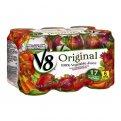 V8 100% Vegetable Juice 6PK of 11.5oz Cans