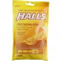 Halls Triple Soothing Action Cough Drops Honey-Lemon 30CT PKG