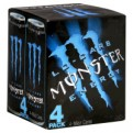 Monster Energy Drink Low Carb 4PK of 16oz Cans