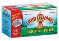 Land O Lakes Butter Unsalted Sticks 4 Quarters 1LB Box