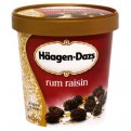 Haagen Dazs Ice Cream Rum Raisin 14oz PKG