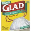 Glad Drawstring Tall Kitchen Bags 13 Gallon 45CT