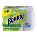 Bounty Paper Towels Big Roll White 54 Full Size Sheets 2-Ply 6CT