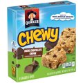 Quaker Chewy 90 Calories Dark Chocolate Chunk 8CT 6.7oz Box