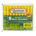 Nathan's Beef Franks Skinless 8CT 14oz PKG