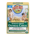 Earth's Best Cereal Oatmeal Whole Grain Organic 8oz Box