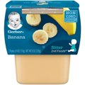 Gerber 2nd Fruits Bananas All Natural  4oz 2PK