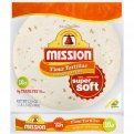 Mission Flour Tortillas Medium/Soft Taco Size 10CT 17.5oz PKG