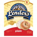 Lender's Premium Refrigerated Bagels Plain 6CT 17.1oz Bag